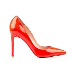 Christian Louboutin patent orange heels size 38